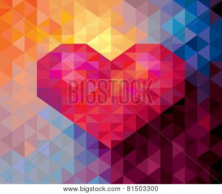Abstract Geometric Valentine card background