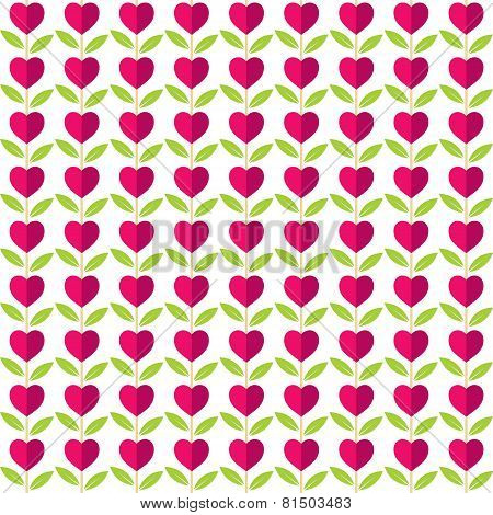 creative love plant pattern background vector