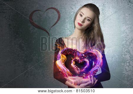 Pretty Valentine Girl