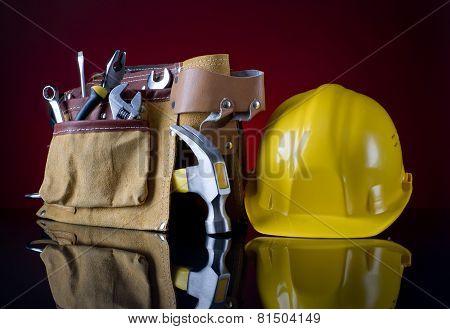 Tool Belt And Helmet