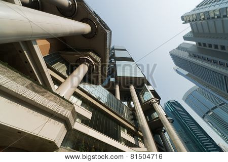 Modern skyscrapers in city in Hong Kong, China, Asia.