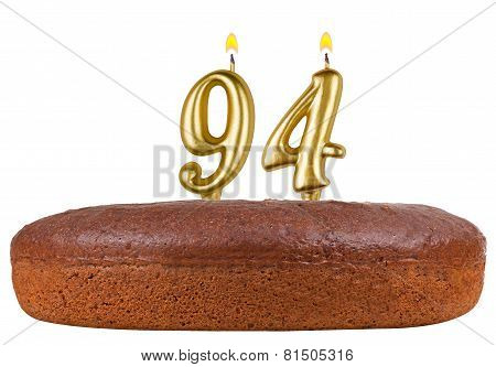 Birthday Cake Candles Number 94 Isolated