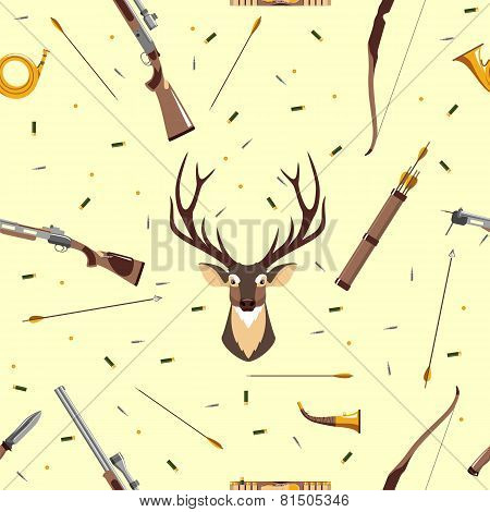 Hunting seamless pattern