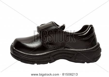 Shoes for children. Black shoes