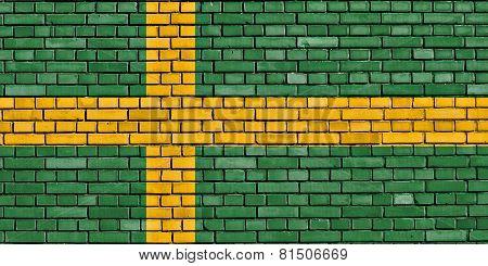 Flag Of Pula Painted On Brick Wall
