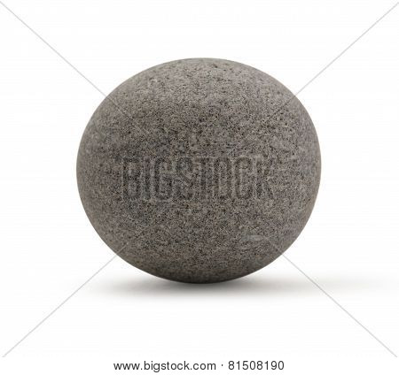 Sea Stone On White Background