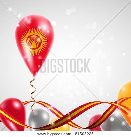 Flag of Kyrgyzstan on balloon