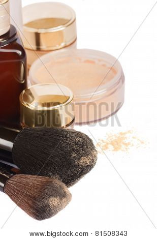 Basic make-up products.