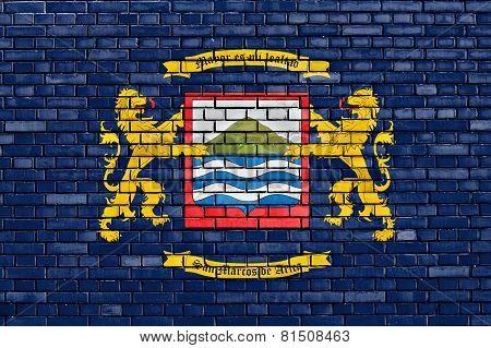 Flag Of Arica Painted On Brick Wall