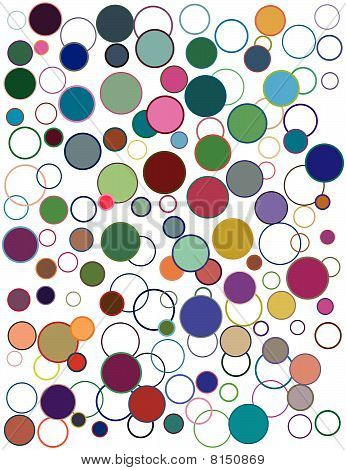 Abstract geometric vector background - circles