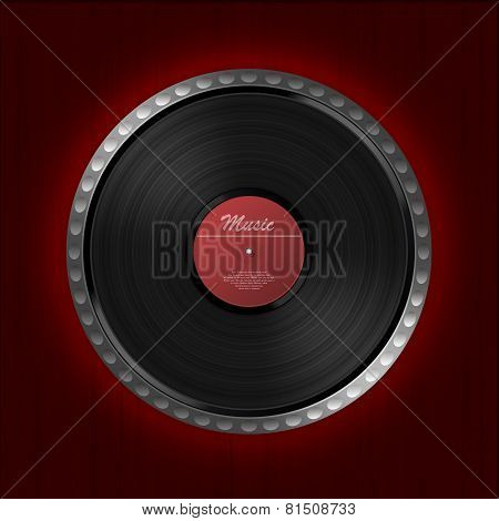 Abstract music background. Vinyl disk