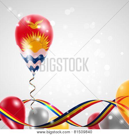 Flag of Kiribati on balloon