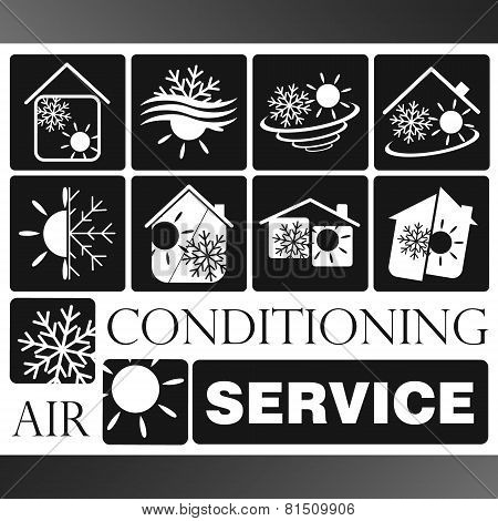 Air condicioning symbol set