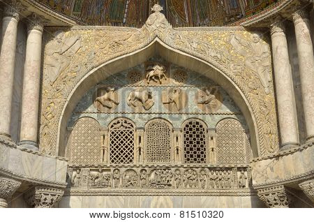 A Detail Of Basilica Of Saint Mark