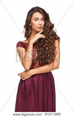 Beautiful woman wearing evening dress