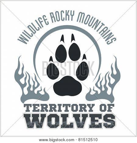 Footprint Wolves emblem -  dangerous territory.