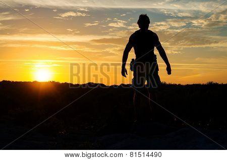 Explorer At Sunset