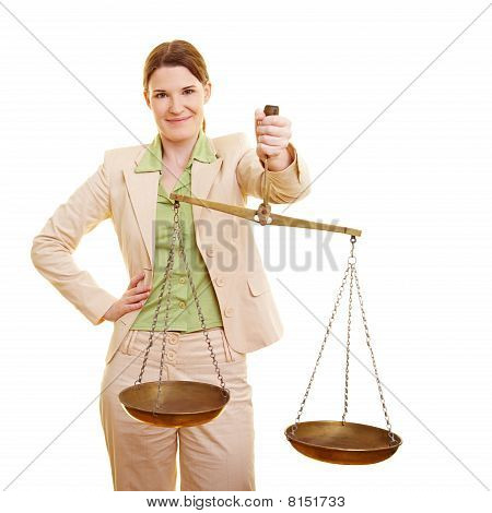 Female Judge With Scales