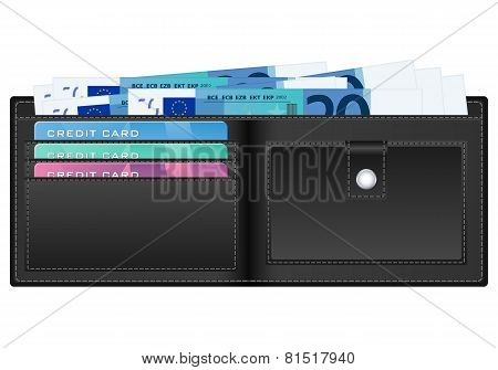 Wallet With Twenty Euro Banknote