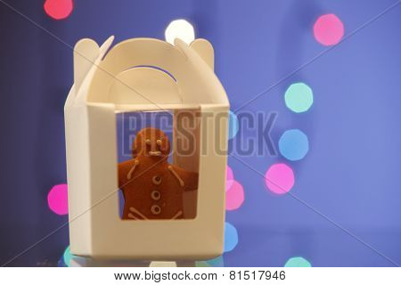 ginger bread man well pack in a container