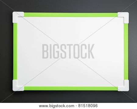 white board on the gray background