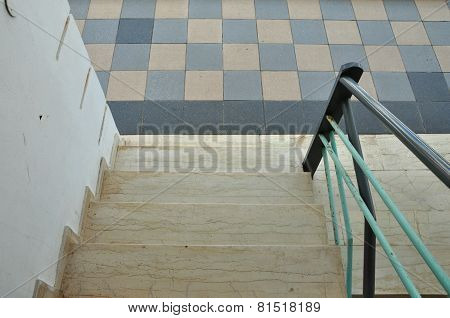 Marble Steps Tiled Floor
