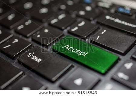 Keyboard - accept key Contact us