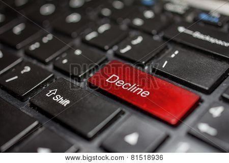 Keyboard - decline key Contact us
