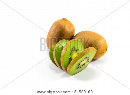 Two And A Half Kiwi Fruit Half Kiwi Fruit