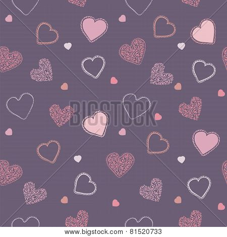 Valentine Blueberry Pattern