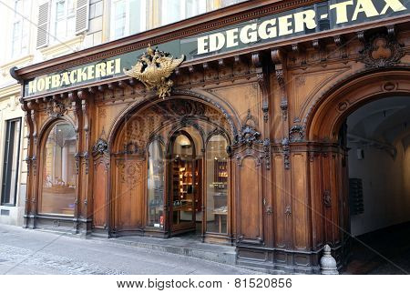 GRAZ, AUSTRIA - JANUARY 10, 2015: Tax Court Bakery in Graz, Styria, Austria on January 10, 2015.