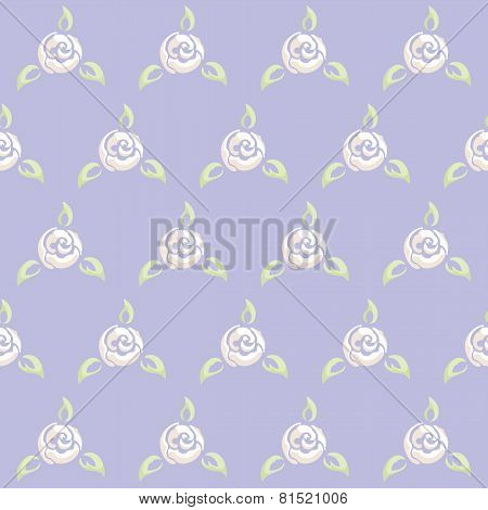 Rose seamless pattern romantic in lilac