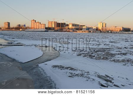 Neva River At Winter.