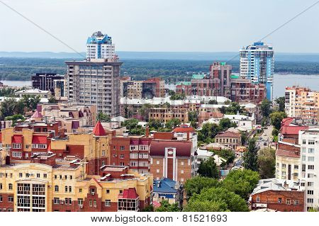 View From Height On City Samara, Russia