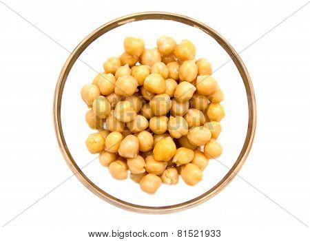 Chickpeas bowl on top