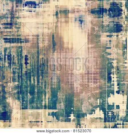 Abstract grunge background or old texture. With different color patterns: yellow (beige); blue; brown; gray; cyan