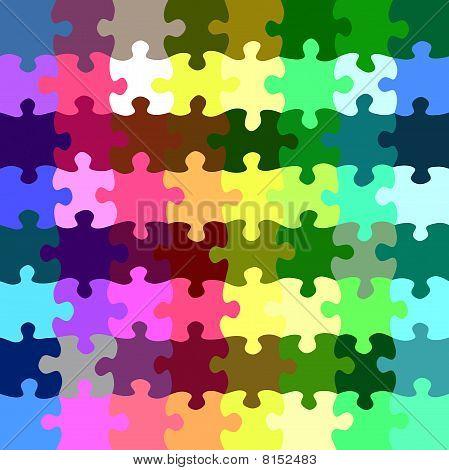 Rainbow Puzzle Pieces