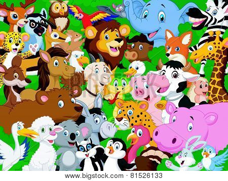Cartoon animal background