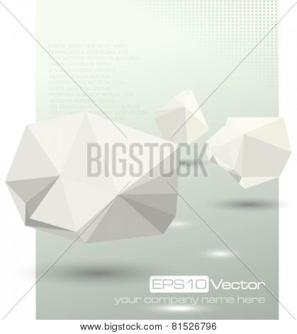 Abstract modern depth of field business design