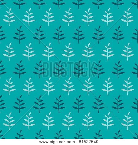 Seamless floral pattern with sprouts