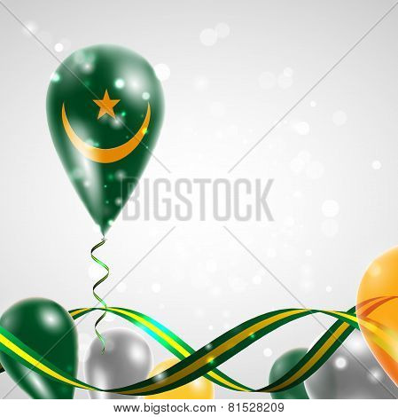Flag of Mauritania on balloon