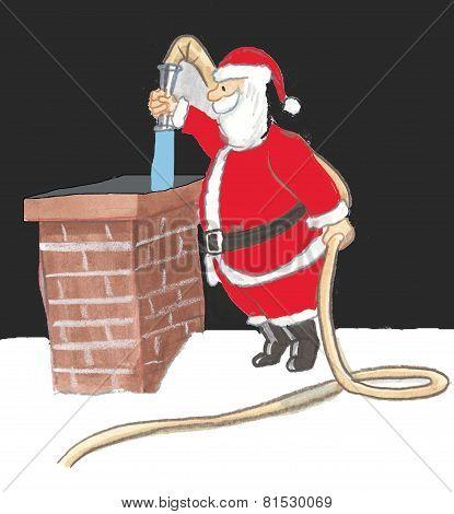 Santa Claus and Chimney