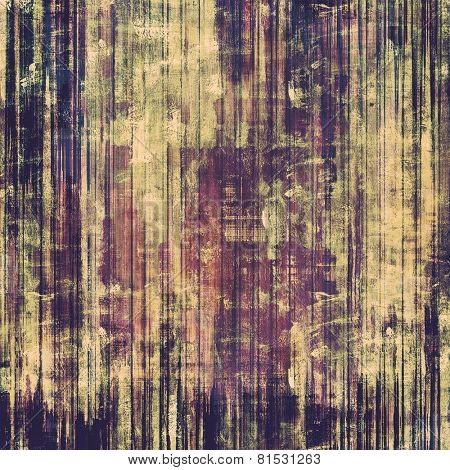 Art vintage background with space for text and different color patterns: blue; brown; gray; purple (violet)