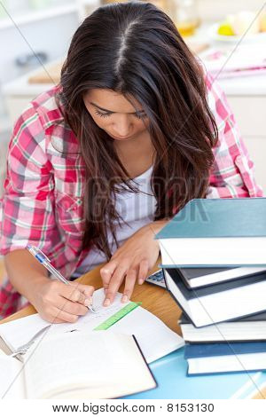 Young Woman Doing Her Homework