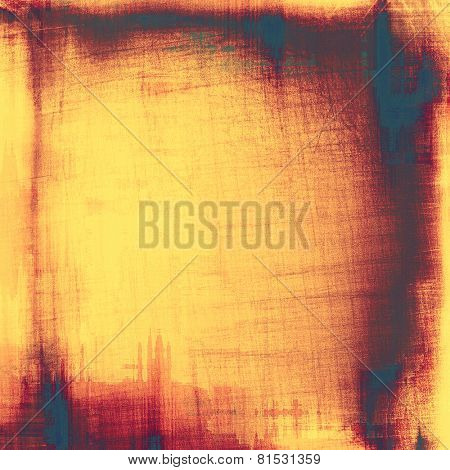 Rough grunge texture. With different color patterns: yellow (beige); blue; brown; pink