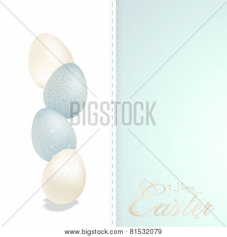 Easter eggs panel with text