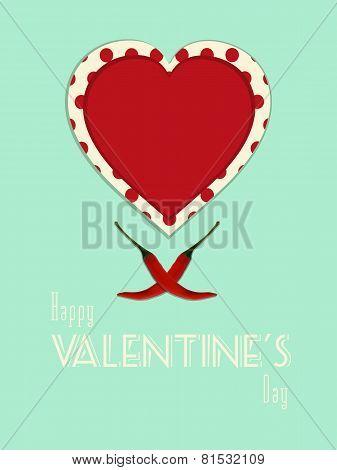 Valentine spicy heart portrait