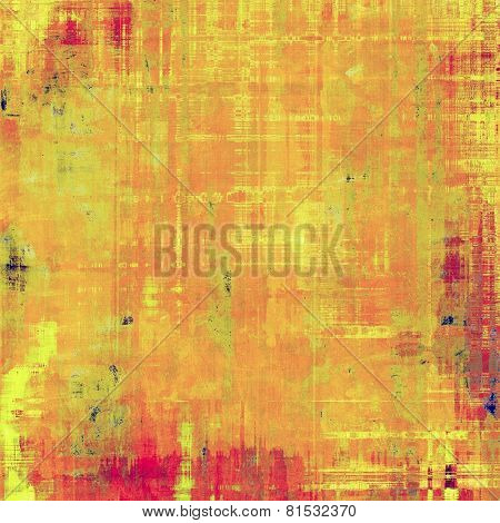 Abstract old background or faded grunge texture. With different color patterns: red (orange); yellow (beige); brown; pink