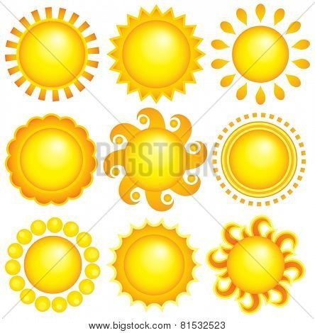 Abstract sun theme collection 1 - eps10 vector illustration.