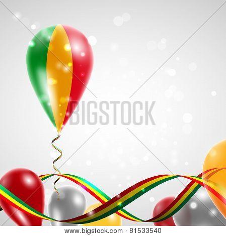 Flag of Mali on balloon